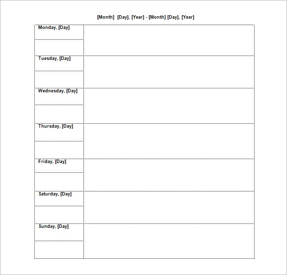 Agenda template 24 free word excel pdf documents for Weekly meeting calendar template