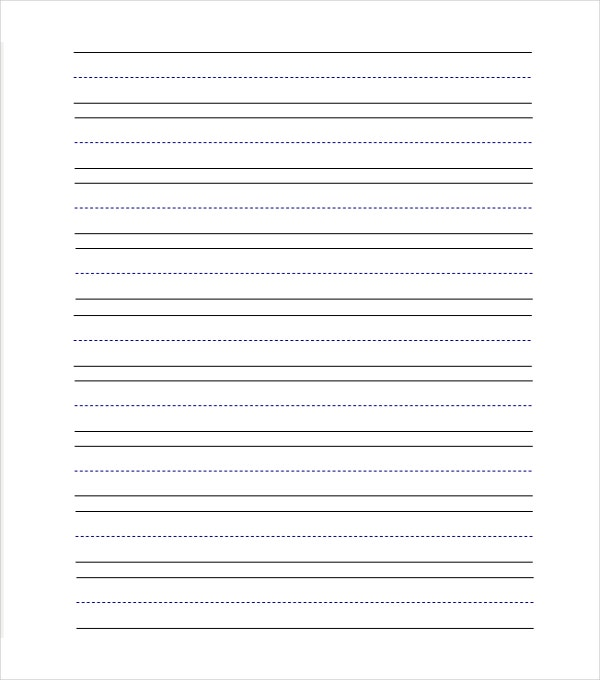 Preschool Lined Paper Templates