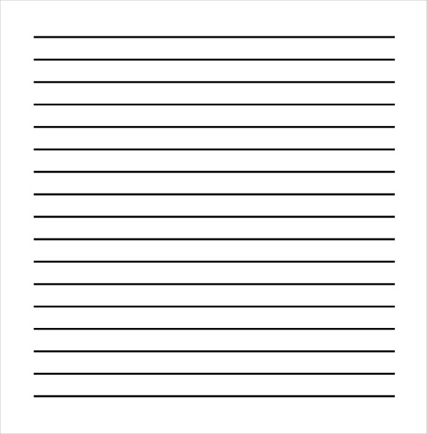 Printable Writing Sheet