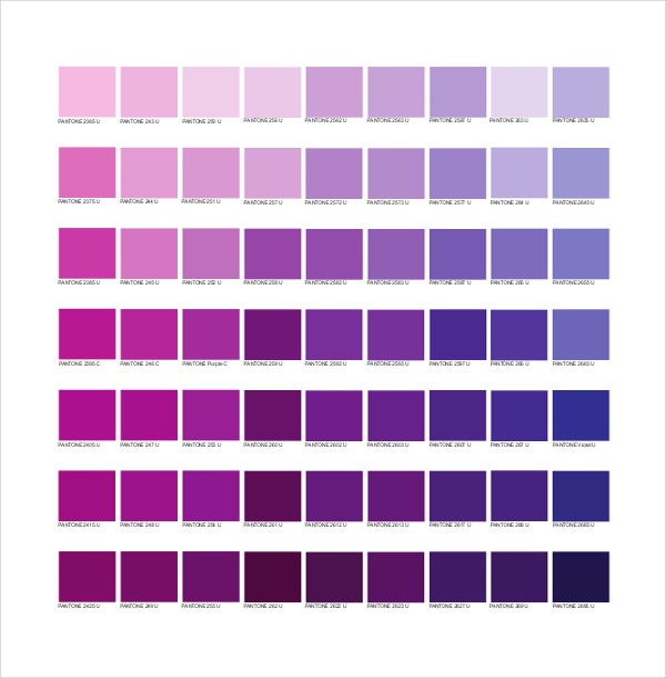 9+ Pantone Color Chart Templates - Free Sample, Example, Format