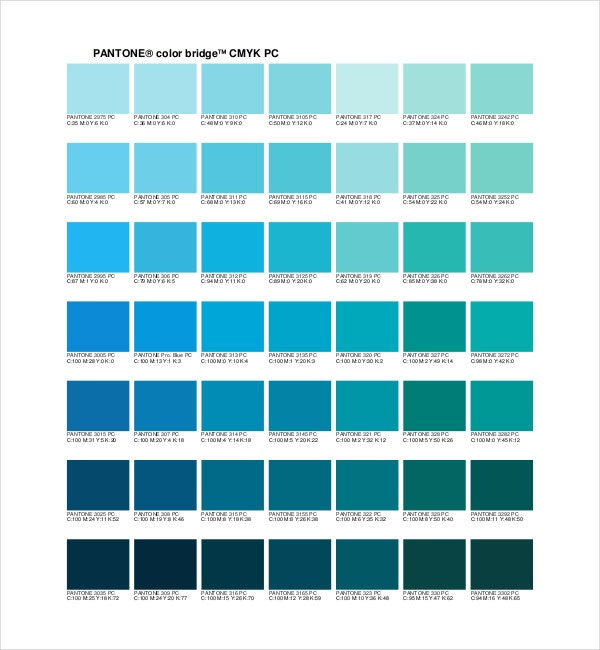 9+ Pantone Color Chart Templates - Free Sample, Example, Format ...