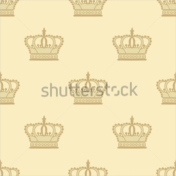 Hand Drawn Abstract Crown Pattern
