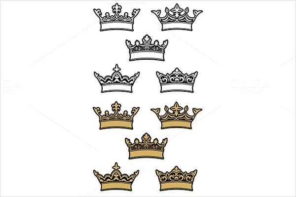 Heraldic Crowns Pattern