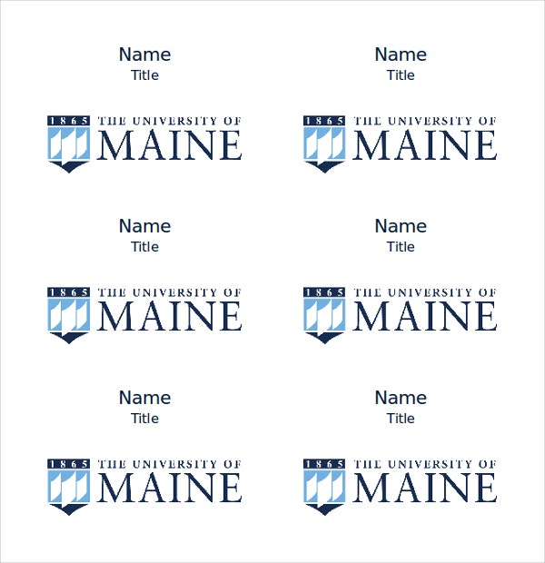 name tag template