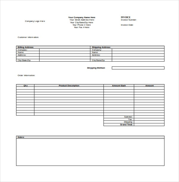 microsoft word 2003 invoice template  12  Invoice Templates - Free Sample, Example, Format   Free ...
