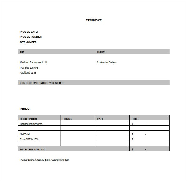 12+ Invoice Templates - Free Sample, Example, Format | Free