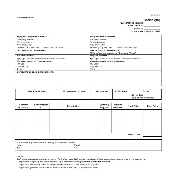 12 invoice templates free sample example format for Retail terms and conditions template