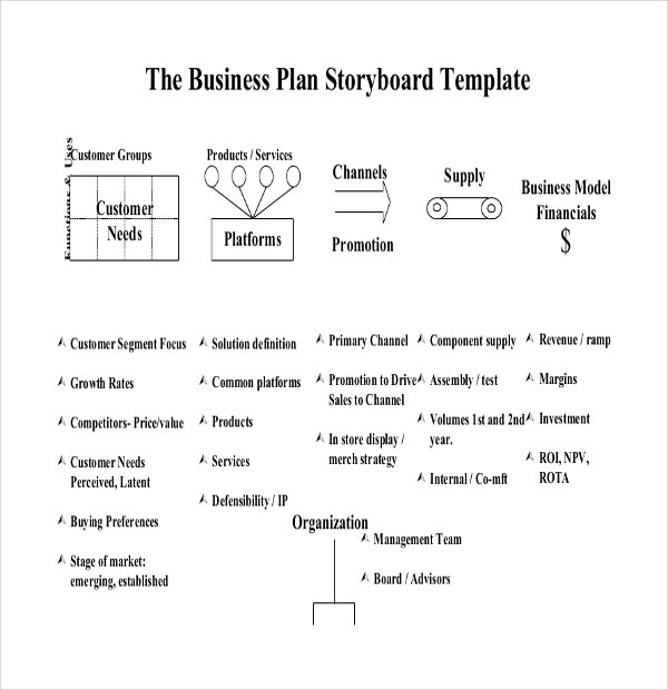 business storyboard template1