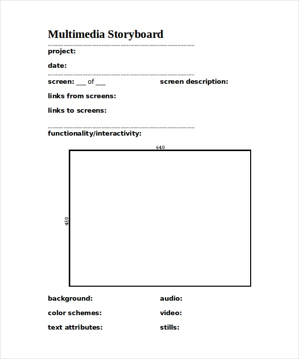 animation storyboard template1