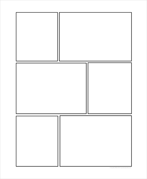 Comic Storyboard Template