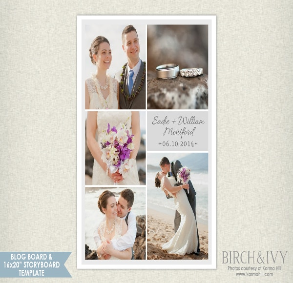 wedding storyboard template