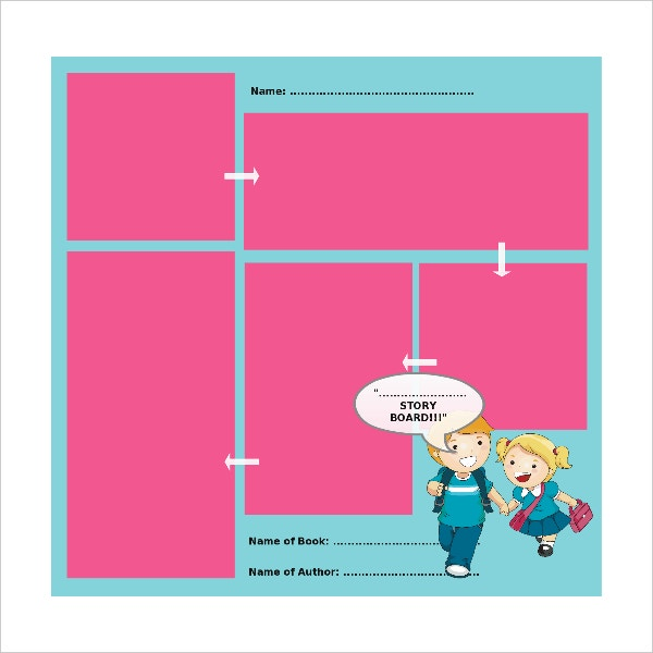 kids storyboard template