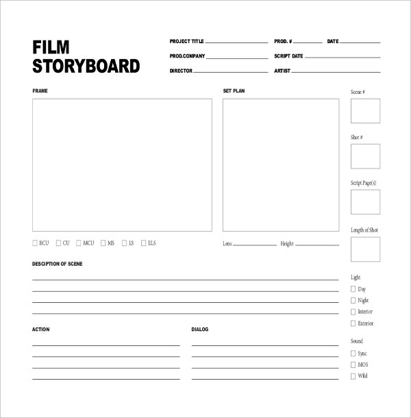 Movie Storyboard Template