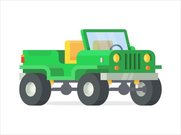 Adventure Jeep 3D Drawing