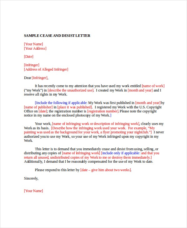 Letter Template   Free Word  Documents Download  Free