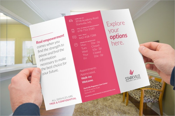 trifold pregnancy care centre brochure