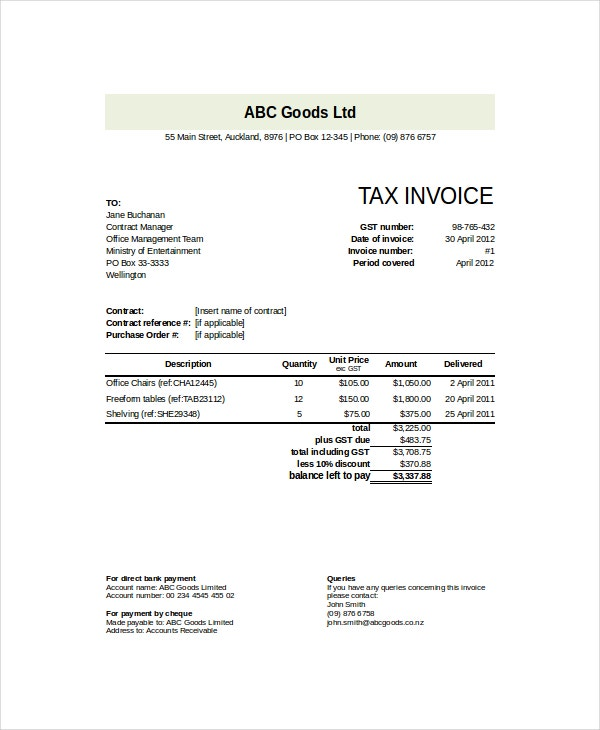 Goods-Invoice-Template