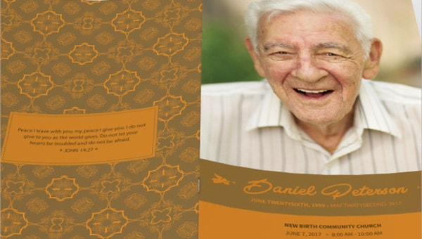funeral templates for father
