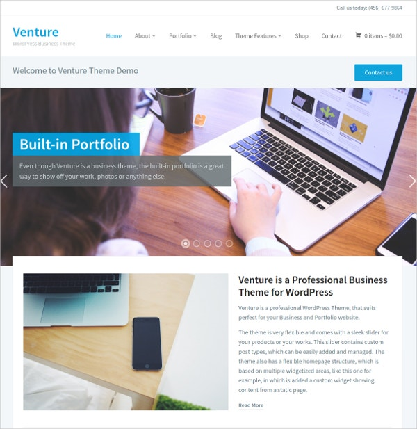 perfect portfolio wordpress website theme for business 69