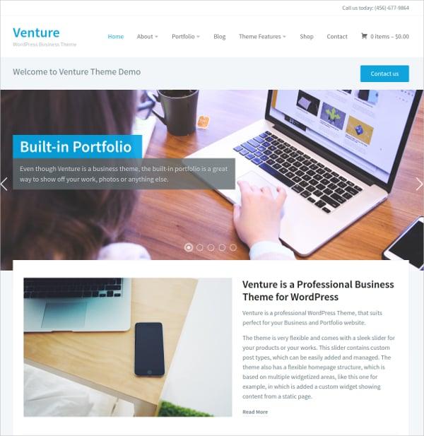 Perfect Portfolio WordPress Website Theme For Business $69