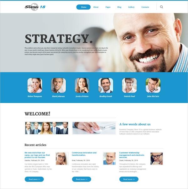 Business Responsive Portfolio Joomla Template $75