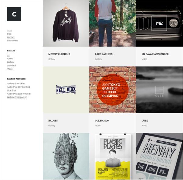 Music Portfolio Website Theme $54