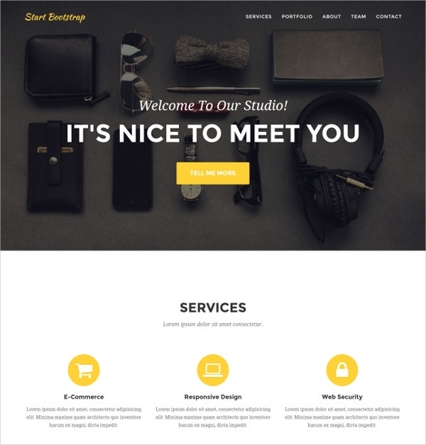 portfolios agency small business website theme