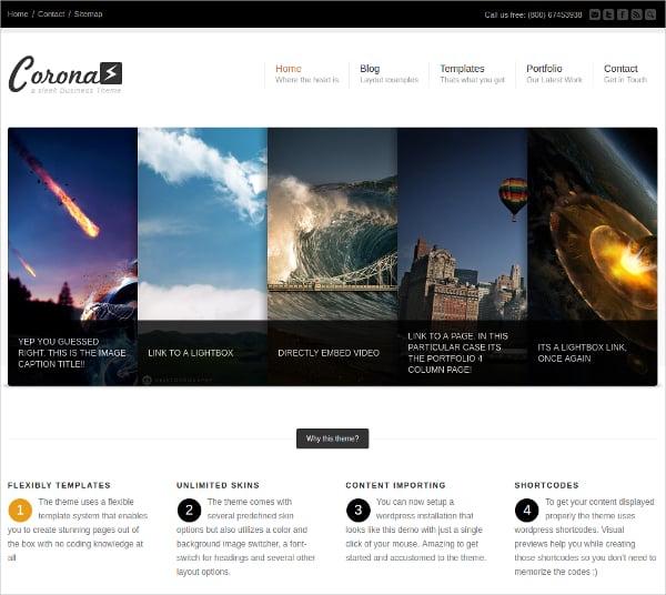 Business & Portfolio Website Theme $54