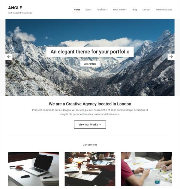 Professionl Services Portfolio WordPress Website Theme $69