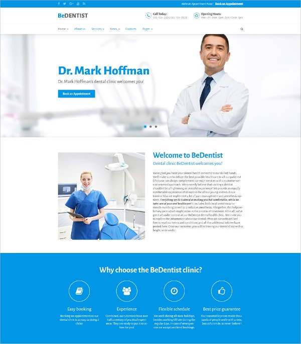 BeDentist WordPress Theme
