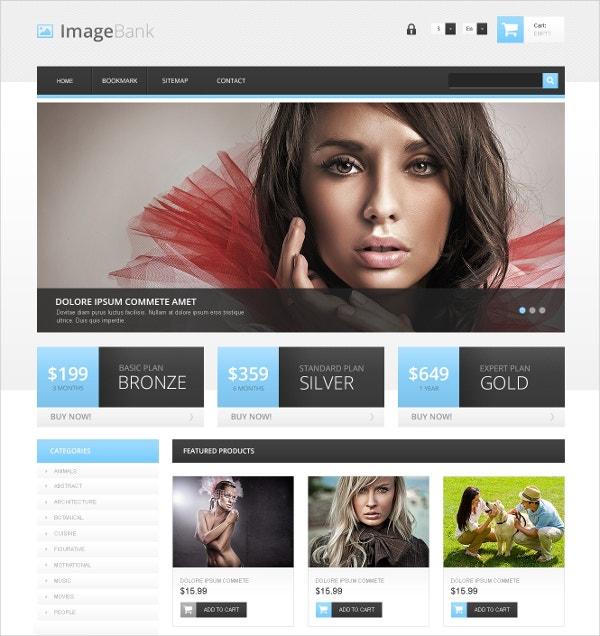 Photography Artist PrestaShop Website Theme $139