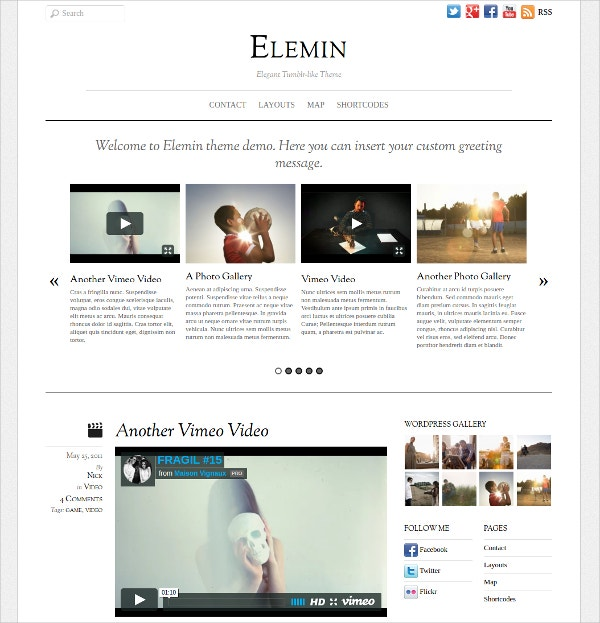 Best Photography Artist Website Theme