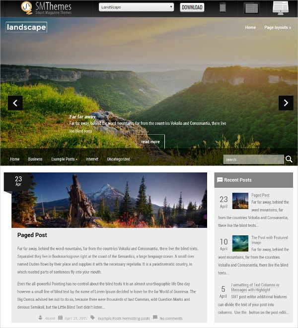 Free Nature Best Photography Artist Website Theme