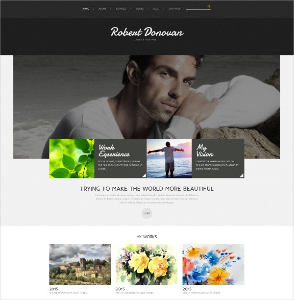 Artist Portfolio Joomla Website Template $75