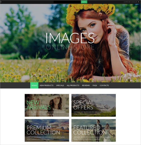 Art Photography ZenCart Website Template $139