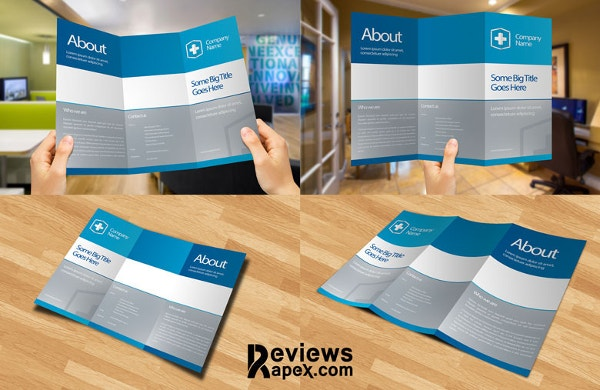Eye Catching Blank Tri Fold Brochure