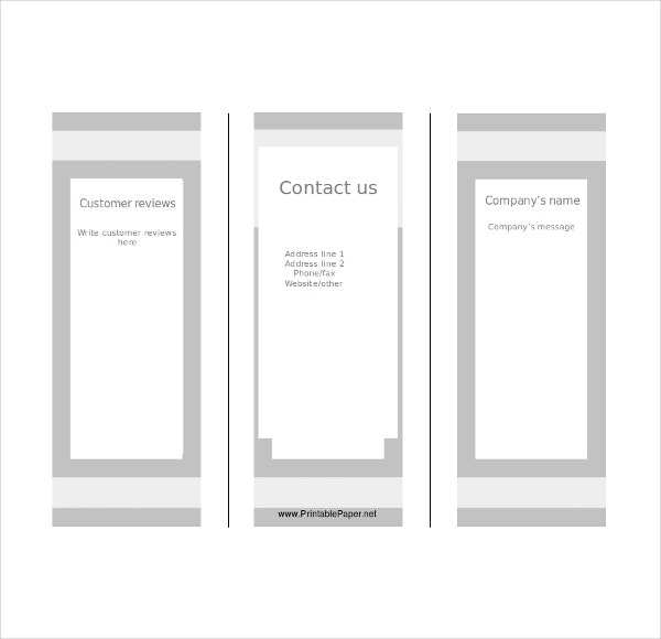 Blank tri fold brochure templates 31 free psd ai for Blank tri fold brochure template free download