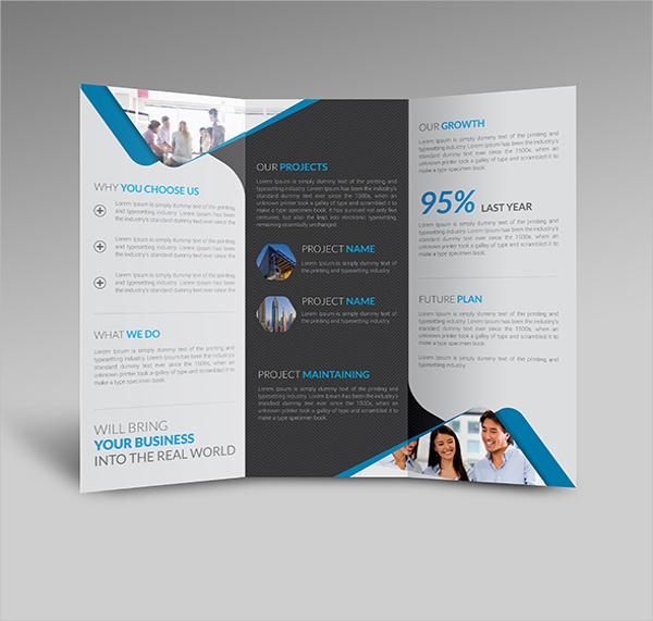 Blank Tri Fold Brochure Templates   Free Psd Ai Vector Eps
