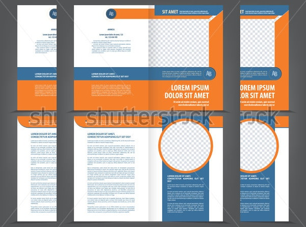 vector empty bifold template