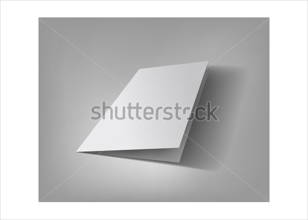 Blank Vector Bifold Template