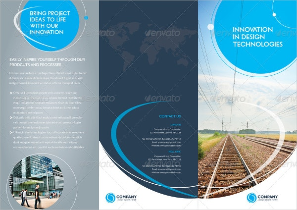 trifold brochure template 01 indesign layout