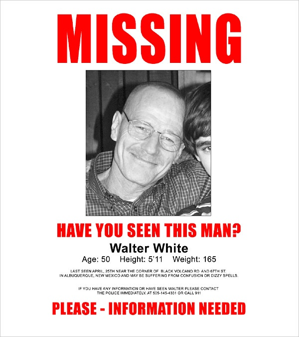 Doc14031984 Missing Posters Template Missing Person Poster – Missing Persons Poster Template