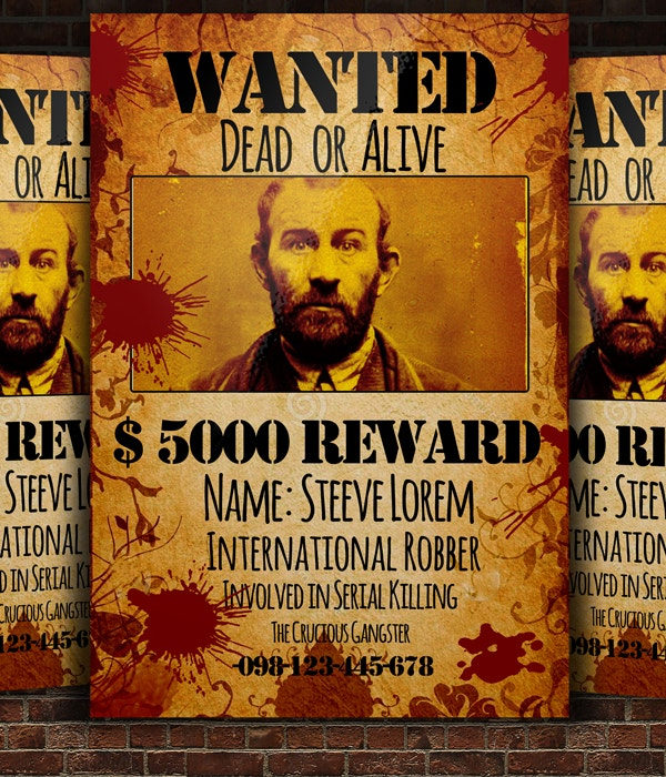 rewards wanted poster