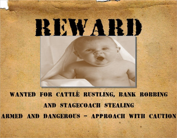 Cattel Rustler Wanted Poster For Kids