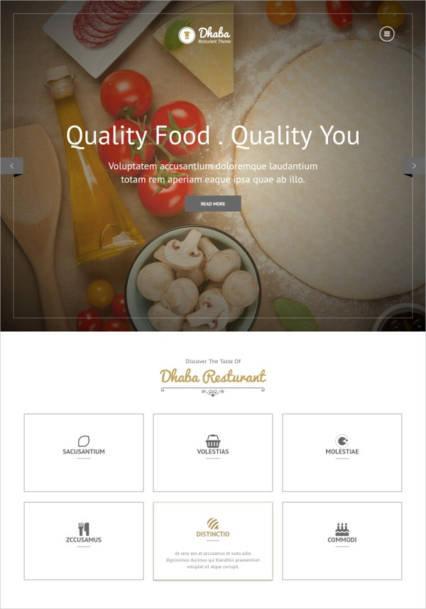 Quality Food Store WordPress Theme