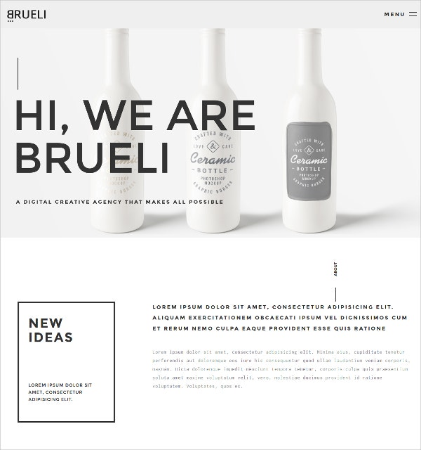 Minimal Portfolio Agency WordPress Theme