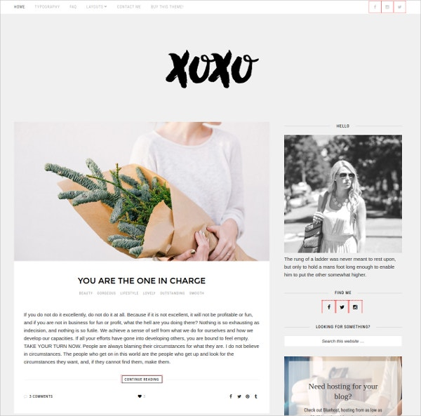 Simple Carrer WordPress Theme