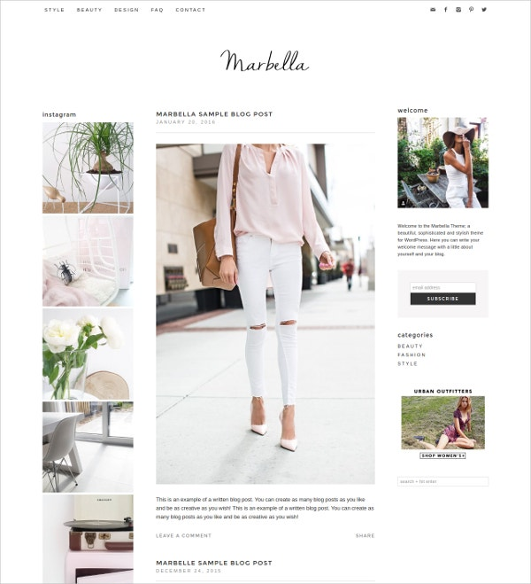 Shop Blog WordPress Theme