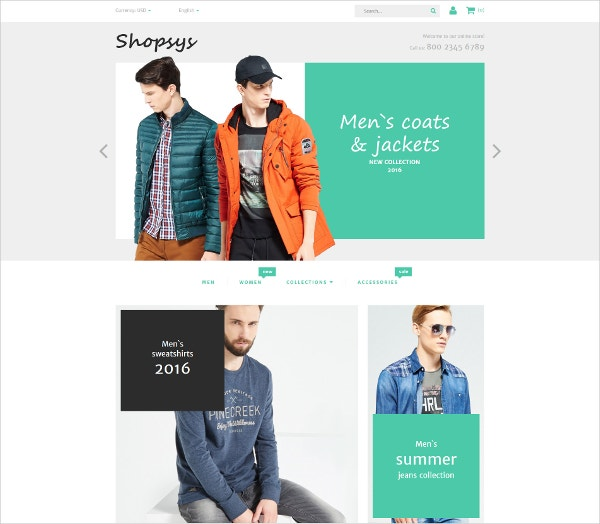 eCommerce Designer Clothing Magento Theme