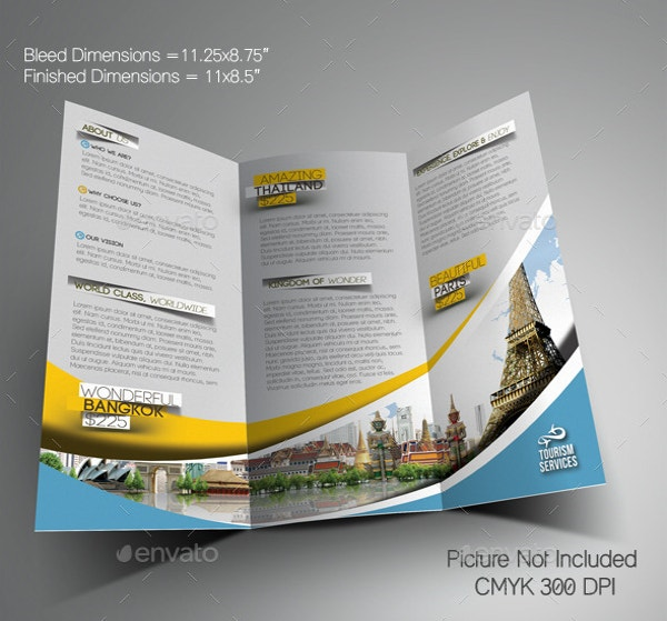 Vacation Brochure Template Free PDF PSD AI Vector EPS - Ai brochure template